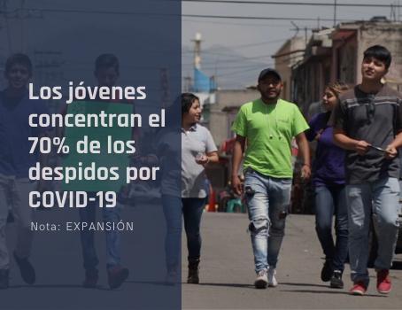 Los jóvenes concentran el 70% de los despidos por COVID-19