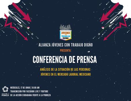 Conferencia de prensa: No cerrar las puertas a jóvenes
