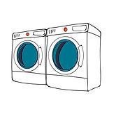 sustainable washing clothes illustration