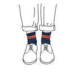 modern socks illustration