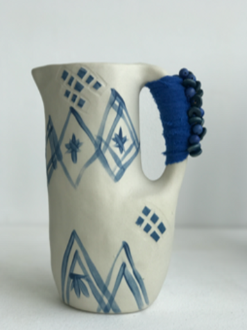 small blue jug