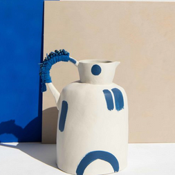 blue/white jug