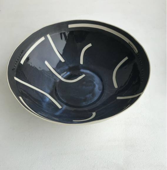 xl black/white bowl