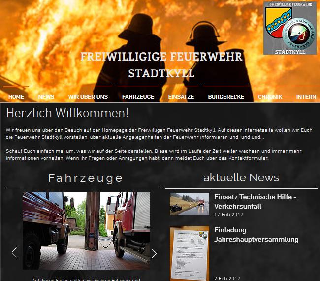 Home der neuen Seite FF Stadtkyll