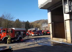 Brandeinsatz - Brand bei Firma Ergocast, Jünkerath