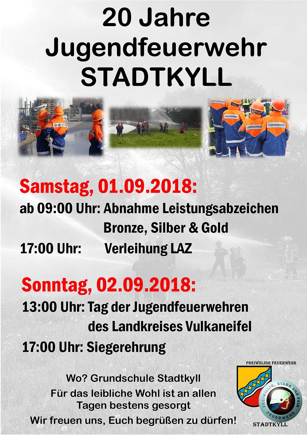 20 Jahre JF Stadtkyll - Plakat