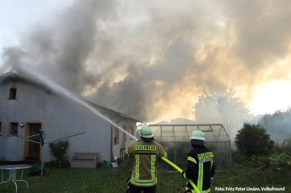 Einsatz FF Stadtkyll, 05.08.2018 - Gebäudebrand Schüller