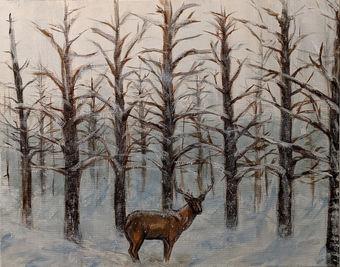 "#9 BLAKE GREENWOOD  ""Untitled (Winter)"""