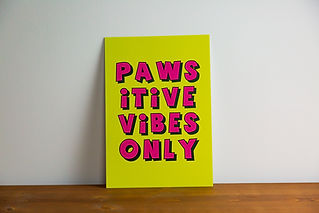 Bright wall prints for home offices and WFH office prints by Pawesome Pet Tags