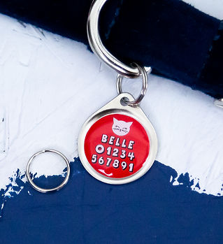 22MM SINGLE SIDED CAT FACE PET TAG EDIT.