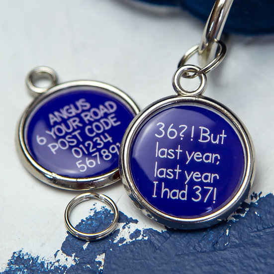 Blue, Dogs Christmas gift, Harry Potter quote, Personalised dog tag, Dogs tag, Christmas gifts for dog lovers