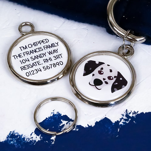 Pawesome pet tags, personalised dog tags, Dalmatian gift, Dalmatian dog tag, dog name tag, dogs tag,