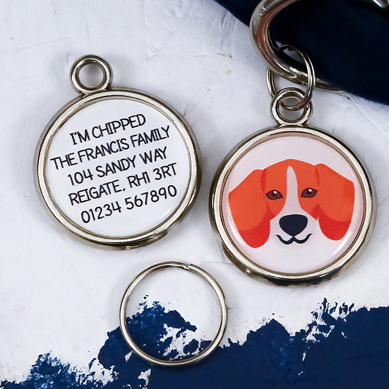 Pawesome pet tags, personalised dog tags, dachshund gift, beagle dog tag, dog name tag, dogs tag,