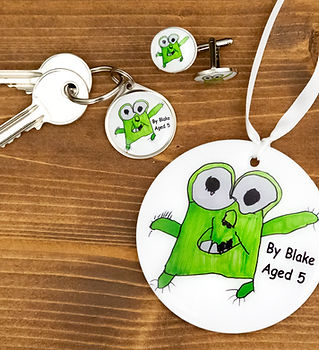 Creative child drawing gift ideas by pawesome pet tags