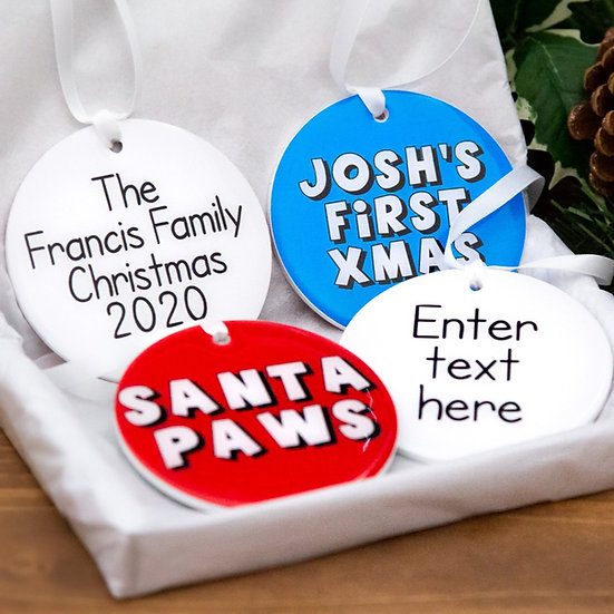 Christmas Baubles Pack Of 4
