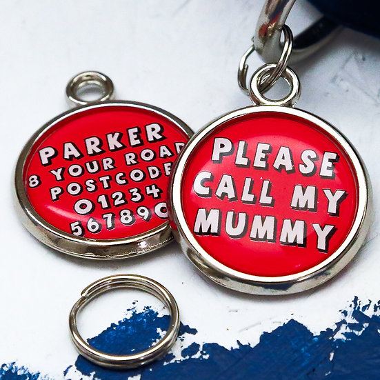 Dogs tag, personalised pet tag, dog ID tag, red pet tag, dog tag, pawesome pet tags, dog mum gift, dog mum,