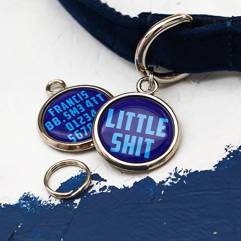 Dogs tag, personalised pet tag, dog ID tag, blue pet tag, dog tag, pawesome pet tags, small dog tag, funny dog gift, dog gift