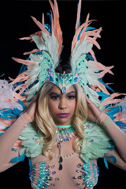Feather headpiece as add on
