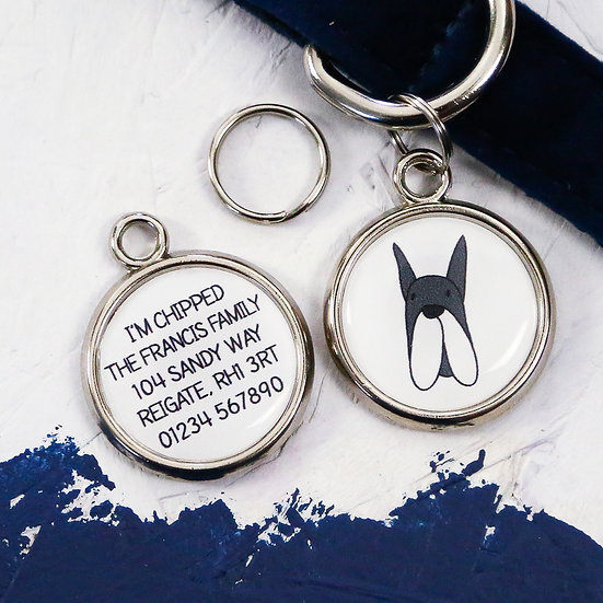 PAWESOME PET TAGS, DOG ID TAGS, SCHNAUZER DOG TAG, PERSONALISED PET TAGS