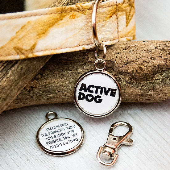 Pawesome pet tags, trigger hooks, dog collar tags, dogs tag, attachment, dog collar attachment