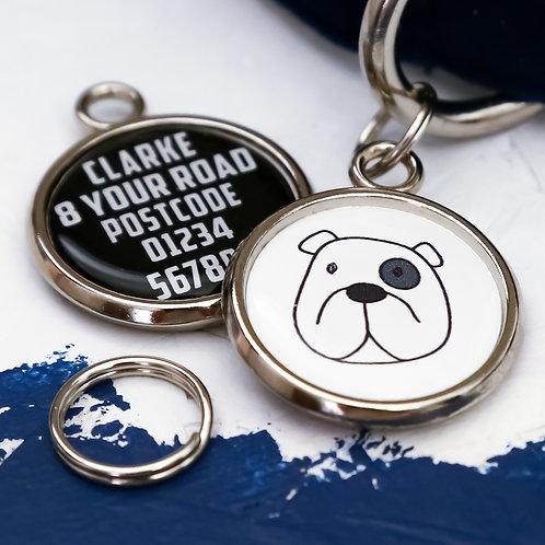 PAWESOME PET TAGS, DOG ID TAGS, ENGLISH BULLDOG, PERSONALISED PET TAGS