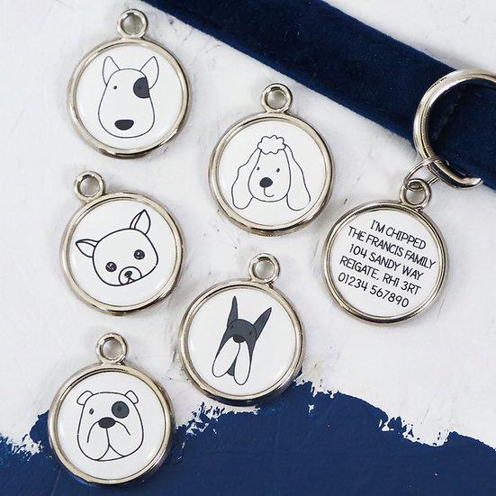 pawesome pet tags, custom dog tag, personalised dog tag, dog portrait, dogs tag