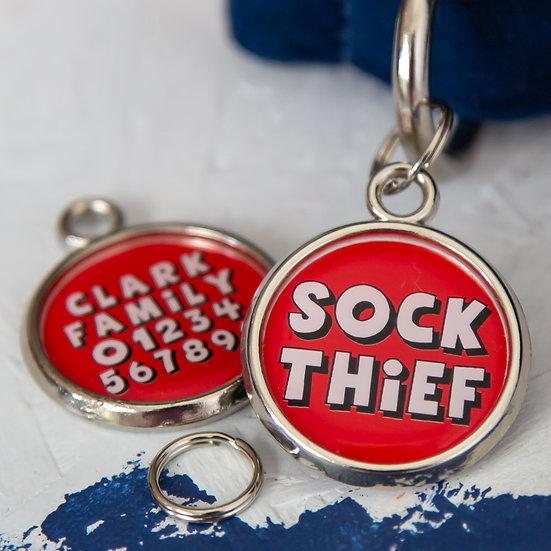 Christmas Dog Tag - Sock Thief