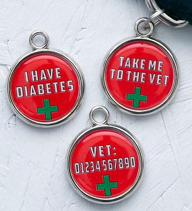 medical alert dog tag - medical dog id -