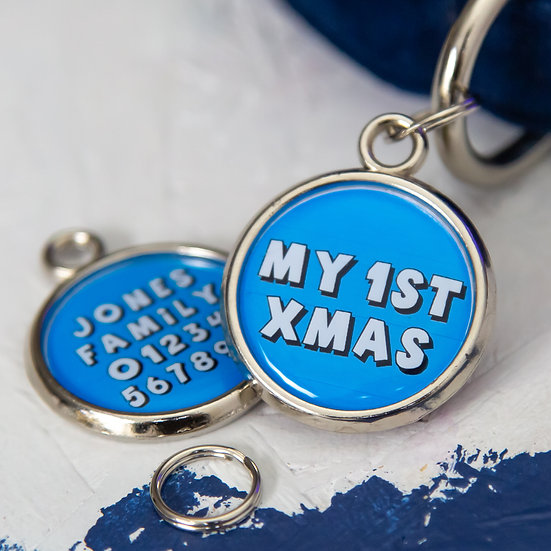 Dogs First Christmas - Dog Identification Tag