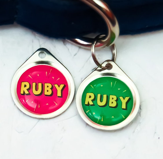 Small Personalised Pet Tag