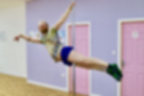 Andrew doing superman pole