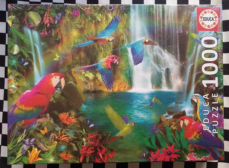 פאזל 1000 חלקים Tropical Parrots