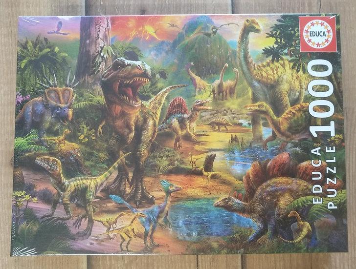 פאזל 1000 חלקים Land of Dinosaurs