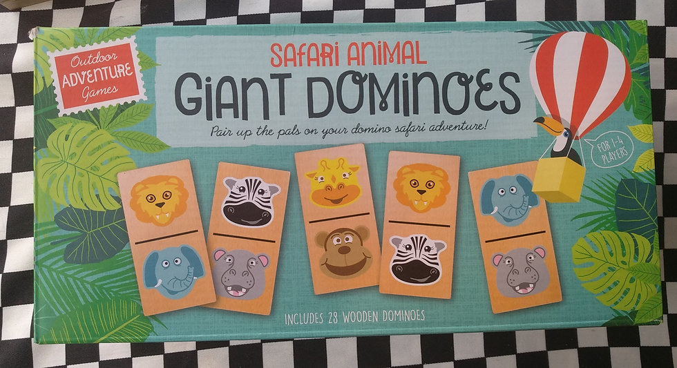 Safari animal giant dominoes דומינו חיות ספארי ענק 15*7.5 cm