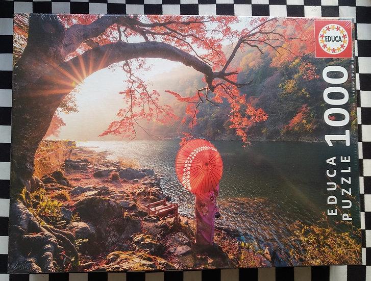 פאזל 1000 חלקים Sunrise in Katsura River, Japan