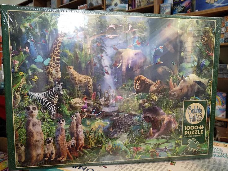 פאזל 1000 חלקים Into the Jungle 80210