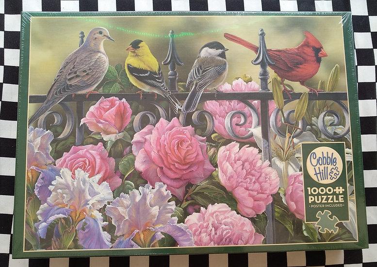 פאזל 1000 חלקים Birds on a Fence