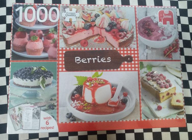 פאזל 1000 חלקים Berries + 6 recipes