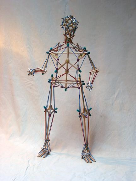 Biotensegrity model in the human body Photo Credit: Tom Flemens