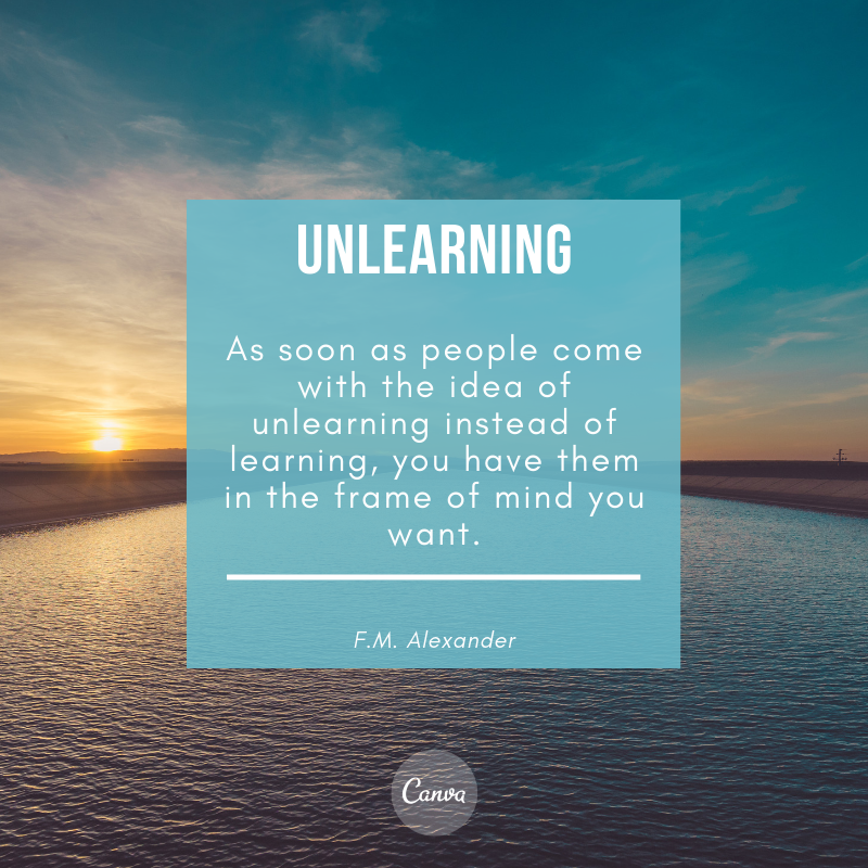 F.M. Alexander Quote on Unlearning Bad Habits