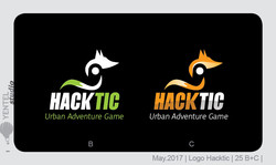 HackTic Logo Sketchs Fox 25 B&C
