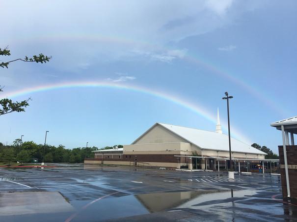 doube rainbow at church.JPG