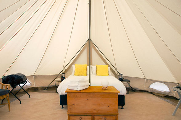 Yellow 6m Bell Tent
