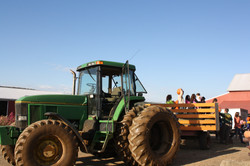 Tractors pulled by GIANT John Deere