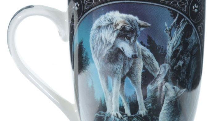 Lisa Parker Guidance Wolf Design Porcelain Mug