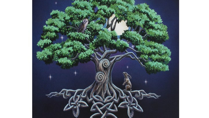 19X25CM TREE OF LIFE CANVAS PLAQUE BY LISA PARKER