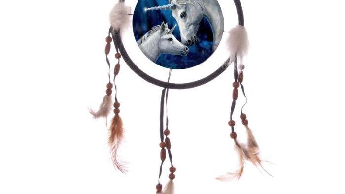 Lisa Parker Sacred Love Unicorn 16cm Dreamcatcher
