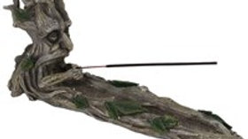 Green Man Incense Stick Holder