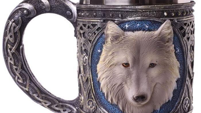 Wolf Tankard Blue