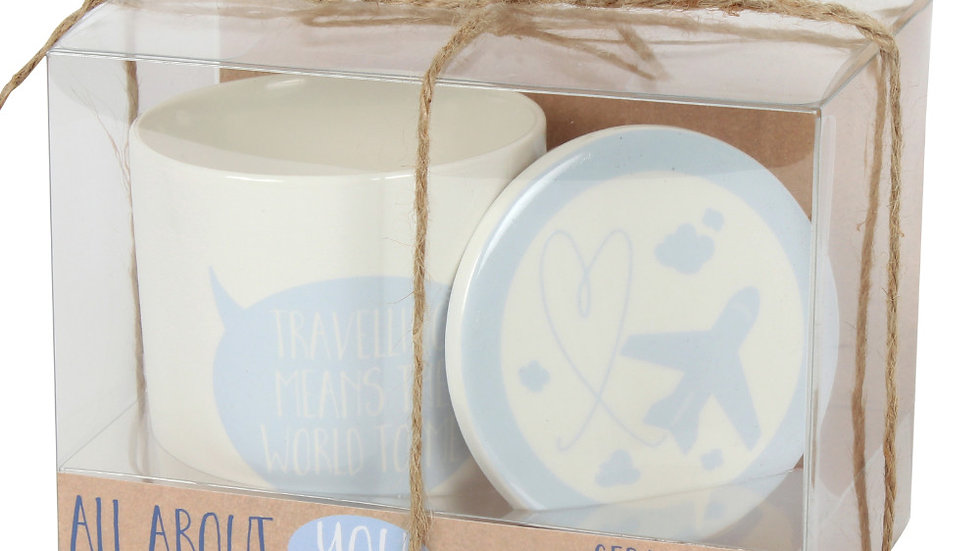 Travelling Means the World to Me Mug and Coaster Set